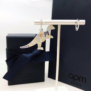 Apm Monaco Diamond Dinosaur Earrings